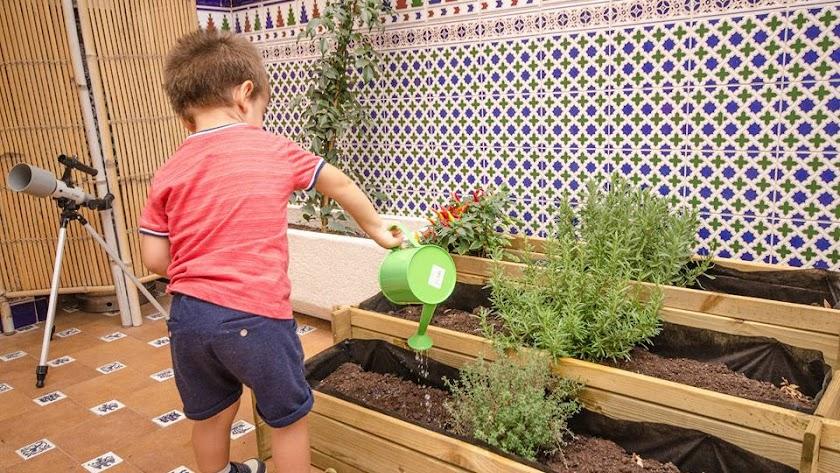 Instalaciones de Ambiente para crecer. Espacio Montessori en Avda. de Montserrat, 69 de Almería.