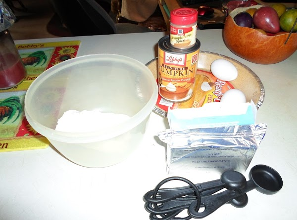 In large mixing bowl beat cream cheese on medium speed with electric mixer until...