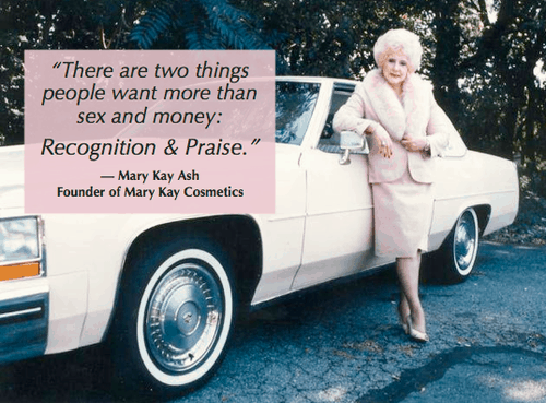 Mary Kay Ash knows praise is the answer to how to keep employees from quitting
