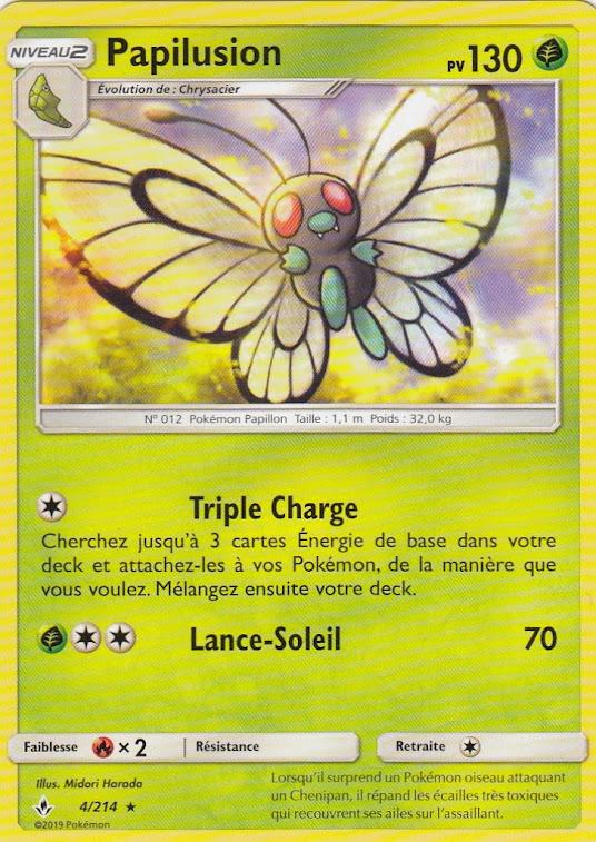 Papilusion Reverse-SL10:Alliance Infaillible-4//214-Carte Pokemon Neuve Française