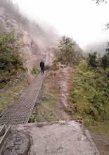 Photo: The collapsed bridge on the way back to Lukla