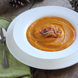 Roasted Butternut Squash Soup {With Apple & Ginger}