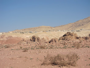 Photo: Tourist town of Wadi Musa overlooking Petra