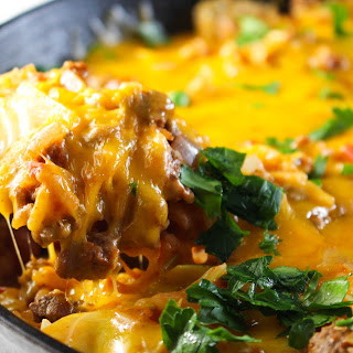 One Pan Cabbage Casserole.