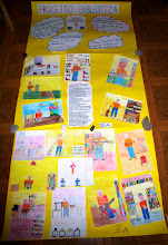 Photo: Un cartellone composto dai ragazzi di IV elementare di Civita Castellana per il progetto di animazione in Biblioteca. Maggio 2007.