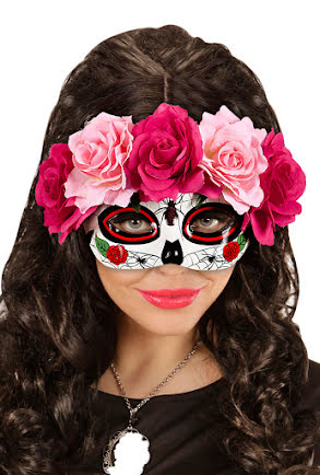 Ögonmask Day of the Dead, rosa