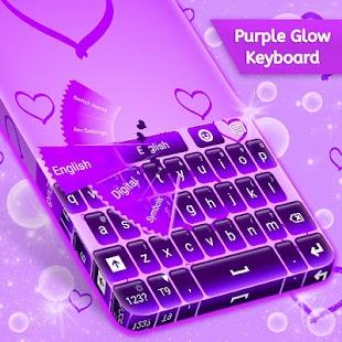 Purple Glow klávesnice zdarma - náhled