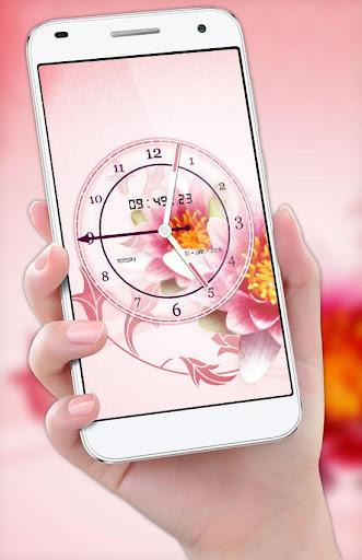 Flower Clock Live Wallpaper 2018: Luxury Watch 3D 2.0 screenshots 2