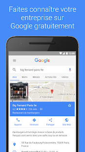 Google My Business – Vignette de la capture d'écran
