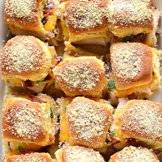 Jalapeno Popper Baked Turkey Sandwiches
