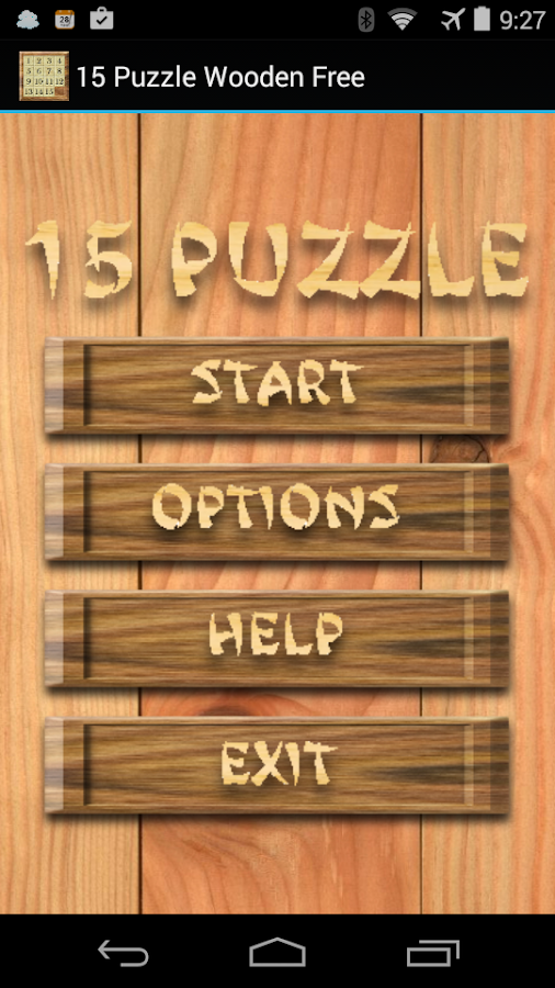 15 Puzzle Wooden Free - screenshot