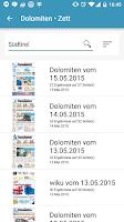 Screenshot of Dolomiten • Zett