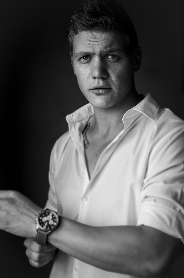 Timecheck by Shane Vermaak - Wedding Groom ( groom, shadow, watch, black and white, intense )