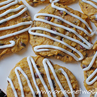 Chocolate Chip Pumpkin Cookies with Buttercream Frosting ~ My Favorite Cookie!.
