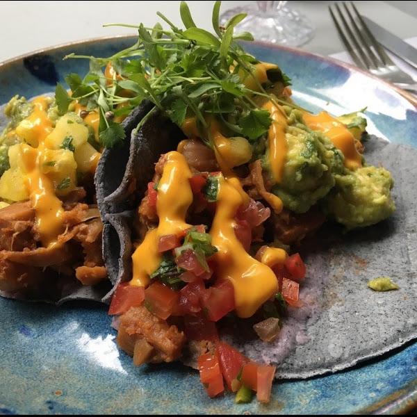 soft corn tacos with jackfruit