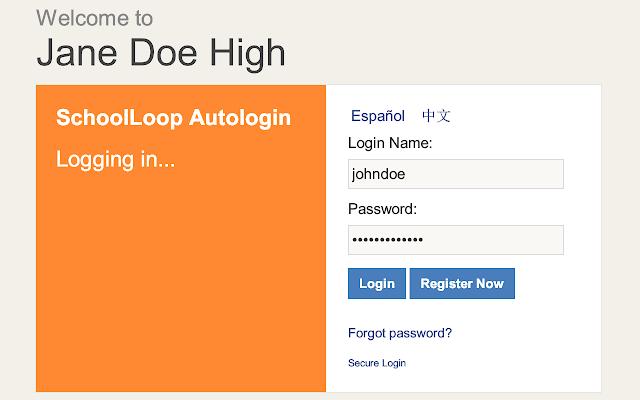 SchoolLoop Autologin