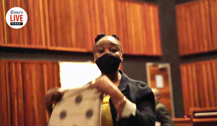 Nomia Rosemary Ndlovu in the Palm Ridge high court during her trial for multiple murders.