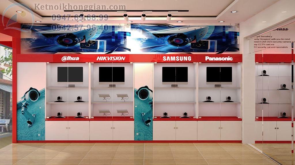 thiết kế cửa hàng camera phong cách đơn giản