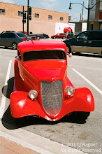 Photo: Red Hot Rod, Claremore, OK.   YASHICA ELECTRO GT.  Post processing in Zoner Photo Studio.