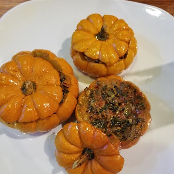 Baked mini pumpkins---so delicious!!