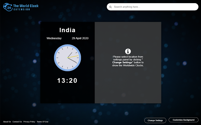 The World Clock Extension
