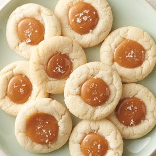 Salted Caramel Thumbprint Cookies Recipe
