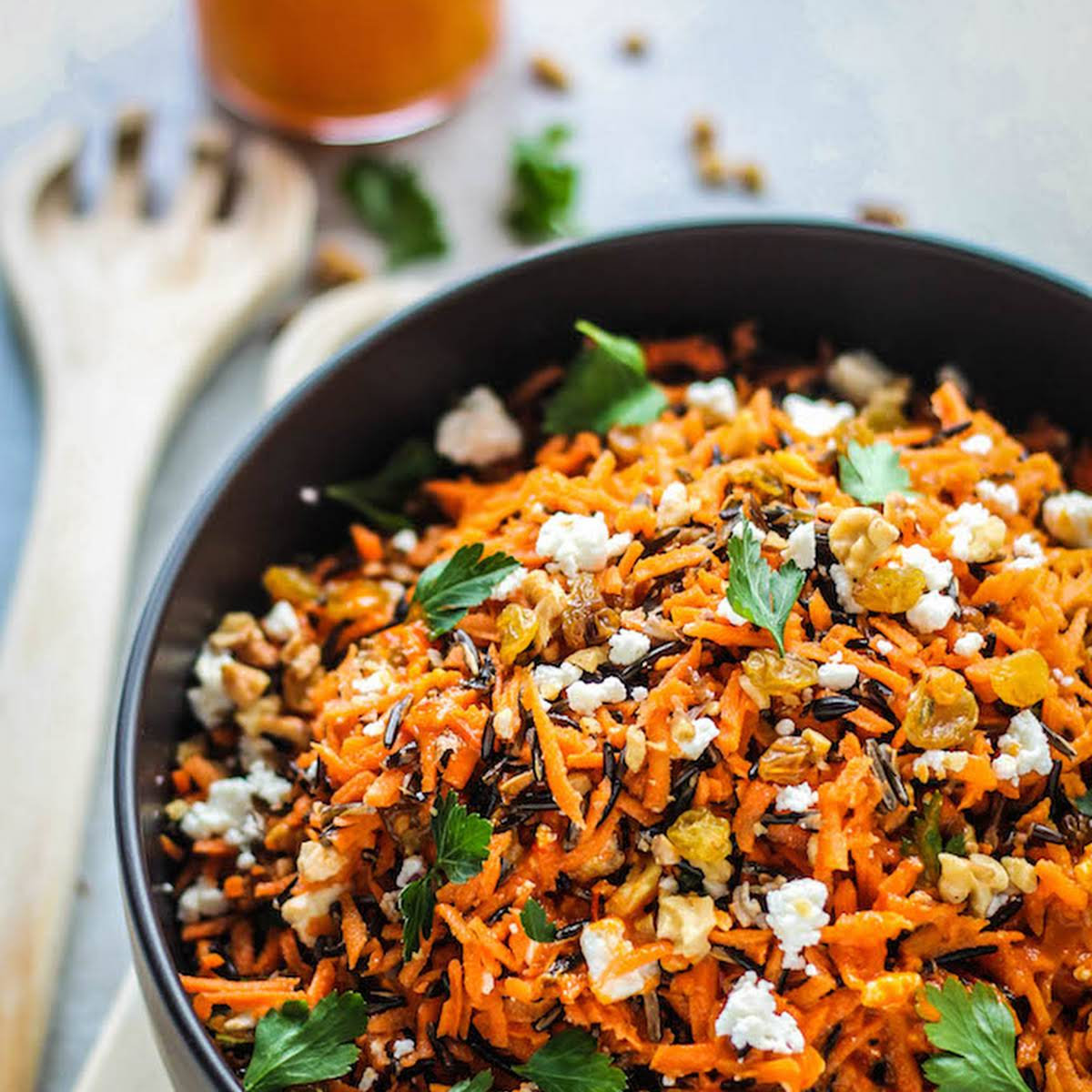 Shredded Carrot and Wild Rice Salad
