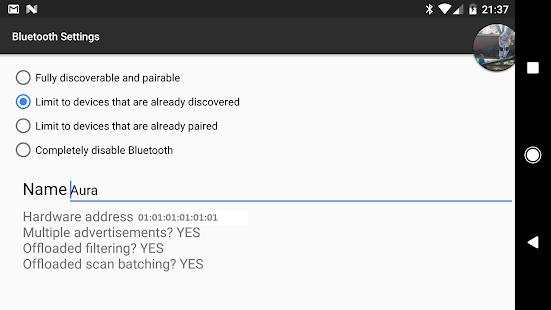 Bluetooth Settings - náhled
