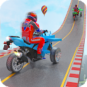 Mega Ramp Tricycle Moto Bike GT Stunt Racing Games icon