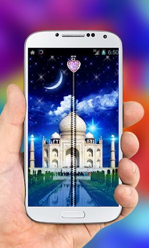 Taj Mahal Zipper Lock Screen