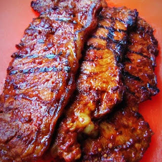 Adobo Strip Steak Tacos With Pineapple Salsa.