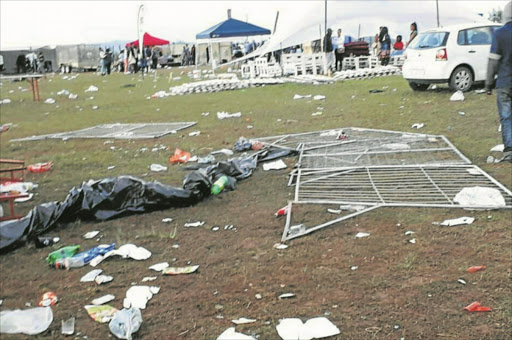 ANGER VENTED: Mthatha revellers went on a rampage after the promised top artists failed to show up at a music concert Picture: VIA FACEBOOK