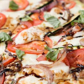 Our Best Bites Grilled Vegetable Flatbread Pizza.