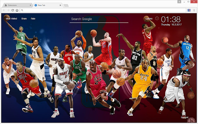 NBA All Stars Basketball Wallpaper HD New Tab