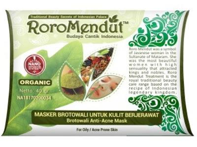 ROROMENDUT Masker Brotowali RORO MENDUT BPOM Kemasan Baru 40gr masker herbal menghilangkan jerawat