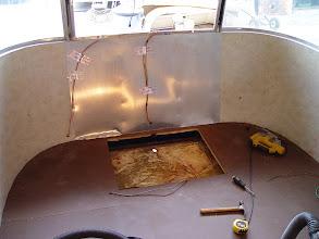 Photo: opening in floor for generator