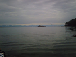 Photo: Round Island in the distance and Deer Island on the right with Queen Charlotte Strait and the BC mainland in the far background.
