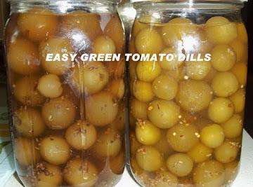 Easy Green Tomato Dills Recipe