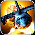 Airplane gunship war icon