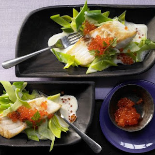 Sea Bass Fillets with Caviar