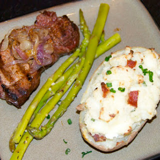 Goat Cheese and Bacon Twice-Baked Potatoes.