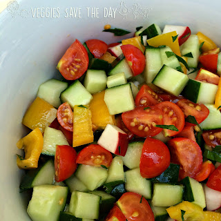 Mediterranean Cucumber and Tomato Salad