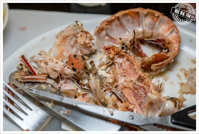 母堂鐵板燒龍蝦殼