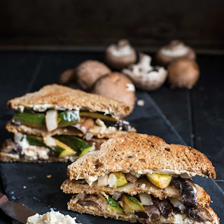 Balsamic Roasted Portbello Mushroom Veggie Sandwich