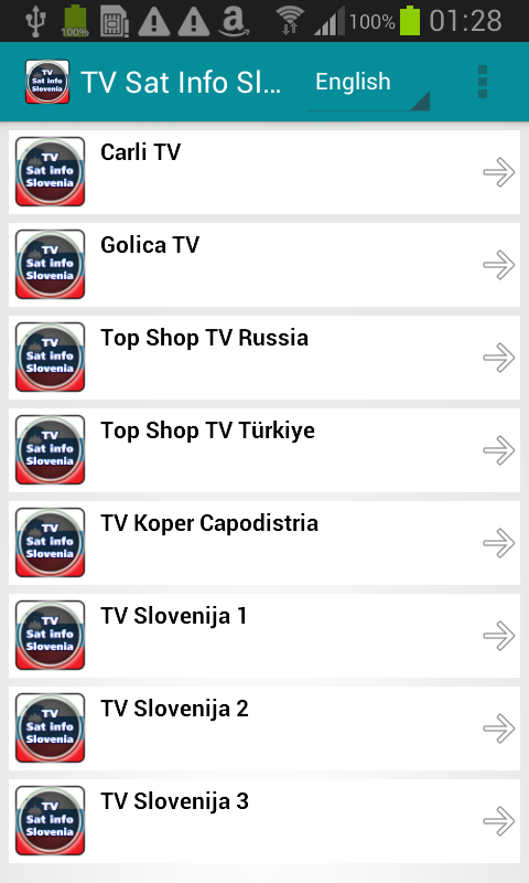 TV Sat Info Slovenia- screenshot