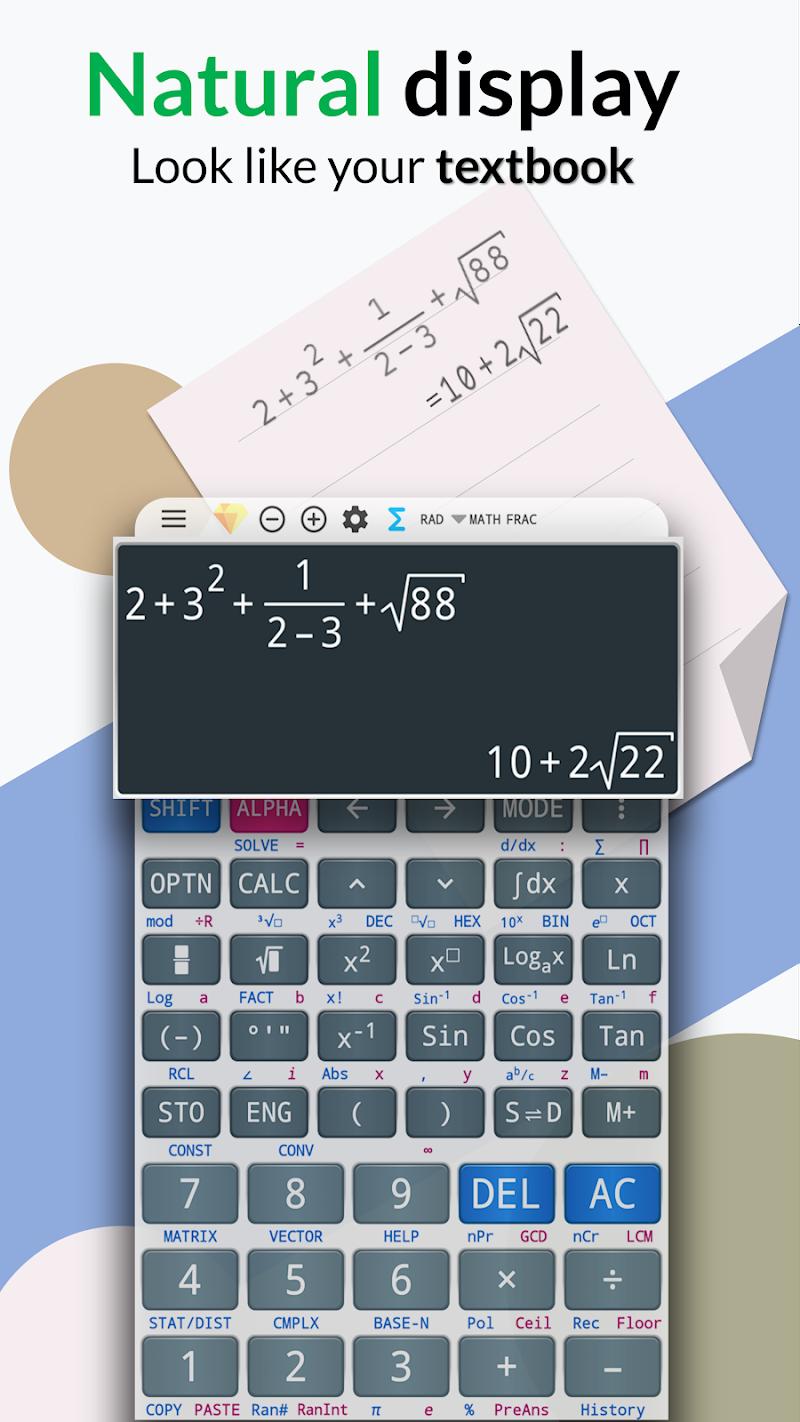 Free engineering fx calculator 991 es plus & 92 Screenshot 0