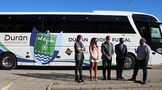 Durán Ejido Futsal presenta el autobús con el que viajará esta temporada