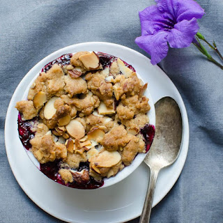 Blueberry Lemon Almond Crisp