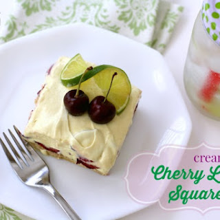 Creamy Cherry Lime Squares