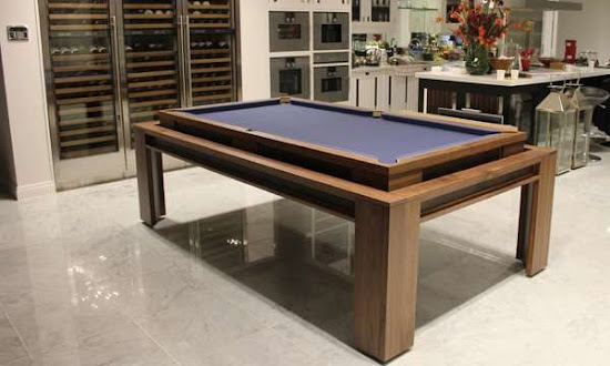 Reversible Pool table in the kitchen